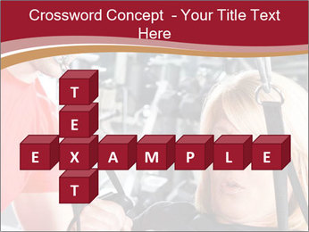 Personal trainer assisting PowerPoint Templates - Slide 82