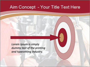 Personal trainer assisting PowerPoint Template - Slide 83