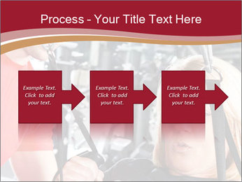 Personal trainer assisting PowerPoint Templates - Slide 88