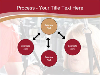 Personal trainer assisting PowerPoint Templates - Slide 91