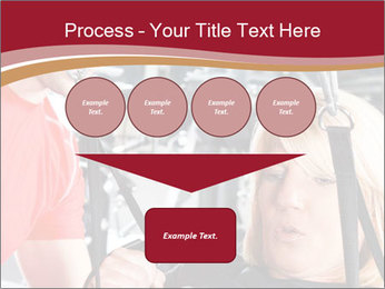 Personal trainer assisting PowerPoint Templates - Slide 93