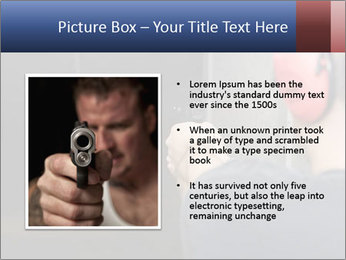 Target practicing with gun In the shooting range PowerPoint Templates - Slide 13