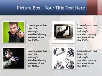 Target practicing with gun In the shooting range PowerPoint Templates - Slide 14