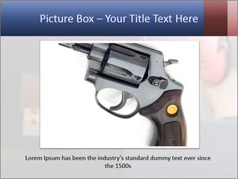 Target practicing with gun In the shooting range PowerPoint Templates - Slide 15