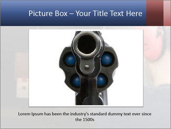 Target practicing with gun In the shooting range PowerPoint Templates - Slide 16
