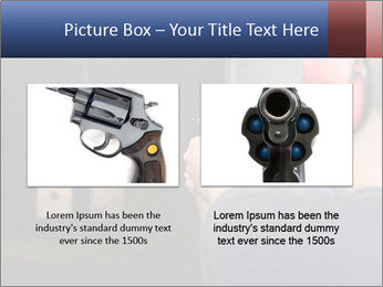 Target practicing with gun In the shooting range PowerPoint Templates - Slide 18