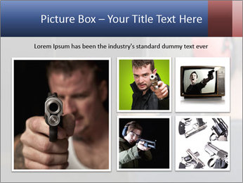 Target practicing with gun In the shooting range PowerPoint Templates - Slide 19