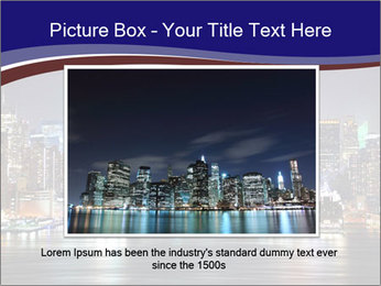 New York City Manhattan skyline panorama PowerPoint Template - Slide 15