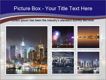 New York City Manhattan skyline panorama PowerPoint Template - Slide 19