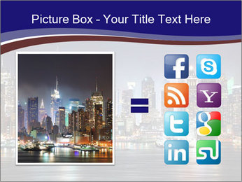 New York City Manhattan skyline panorama PowerPoint Template - Slide 21