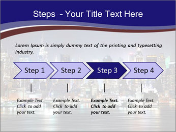 New York City Manhattan skyline panorama PowerPoint Template - Slide 4