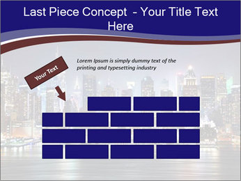 New York City Manhattan skyline panorama PowerPoint Template - Slide 46