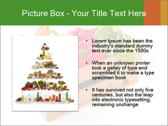 Wooden crate with a diversity of fresh vegetables PowerPoint Template - Slide 13
