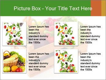 Wooden crate with a diversity of fresh vegetables PowerPoint Templates - Slide 14