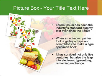 Wooden crate with a diversity of fresh vegetables PowerPoint Template - Slide 17