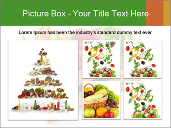 Wooden crate with a diversity of fresh vegetables PowerPoint Template - Slide 19