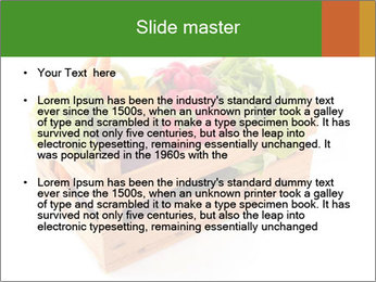 Wooden crate with a diversity of fresh vegetables PowerPoint Template - Slide 2