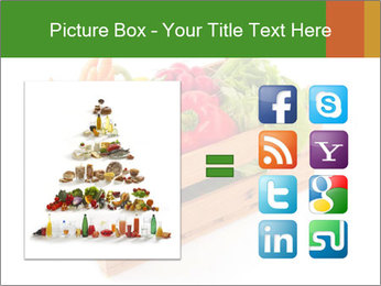 Wooden crate with a diversity of fresh vegetables PowerPoint Template - Slide 21
