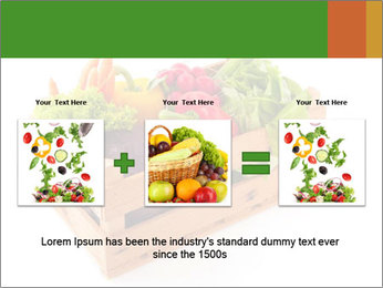 Wooden crate with a diversity of fresh vegetables PowerPoint Template - Slide 22