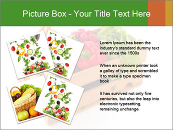 Wooden crate with a diversity of fresh vegetables PowerPoint Template - Slide 23