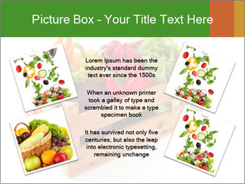 Wooden crate with a diversity of fresh vegetables PowerPoint Templates - Slide 24