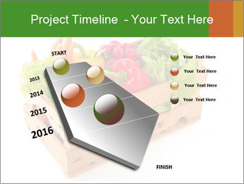 Wooden crate with a diversity of fresh vegetables PowerPoint Template - Slide 26