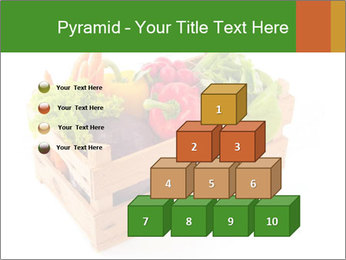 Wooden crate with a diversity of fresh vegetables PowerPoint Template - Slide 31