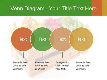 Wooden crate with a diversity of fresh vegetables PowerPoint Template - Slide 32