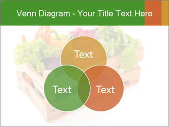 Wooden crate with a diversity of fresh vegetables PowerPoint Template - Slide 33