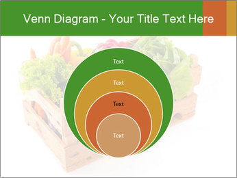 Wooden crate with a diversity of fresh vegetables PowerPoint Template - Slide 34