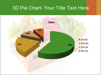 Wooden crate with a diversity of fresh vegetables PowerPoint Template - Slide 35