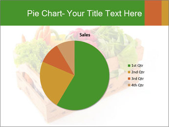 Wooden crate with a diversity of fresh vegetables PowerPoint Template - Slide 36