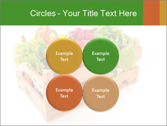 Wooden crate with a diversity of fresh vegetables PowerPoint Template - Slide 38