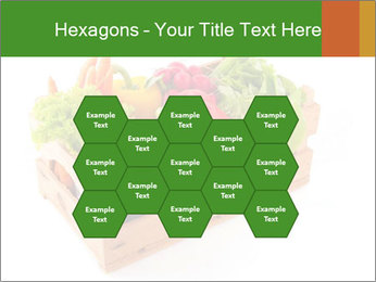 Wooden crate with a diversity of fresh vegetables PowerPoint Template - Slide 44