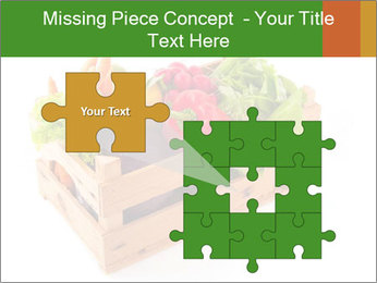 Wooden crate with a diversity of fresh vegetables PowerPoint Template - Slide 45