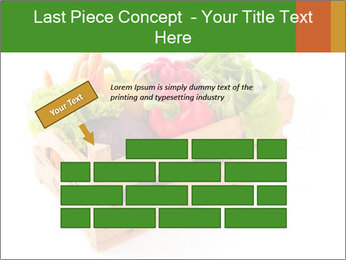 Wooden crate with a diversity of fresh vegetables PowerPoint Template - Slide 46