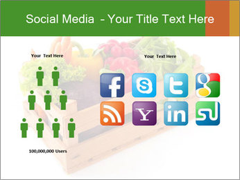 Wooden crate with a diversity of fresh vegetables PowerPoint Template - Slide 5