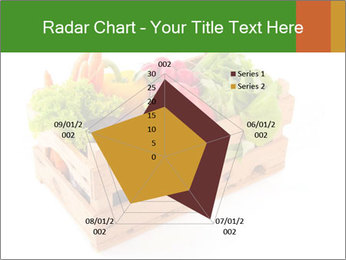 Wooden crate with a diversity of fresh vegetables PowerPoint Template - Slide 51