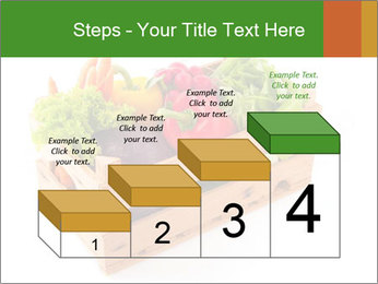 Wooden crate with a diversity of fresh vegetables PowerPoint Template - Slide 64