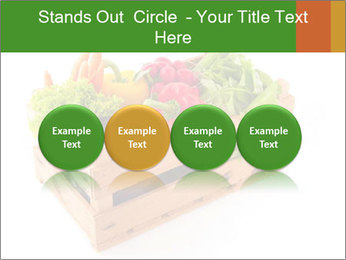 Wooden crate with a diversity of fresh vegetables PowerPoint Template - Slide 76