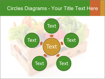 Wooden crate with a diversity of fresh vegetables PowerPoint Template - Slide 78