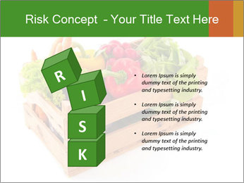 Wooden crate with a diversity of fresh vegetables PowerPoint Template - Slide 81