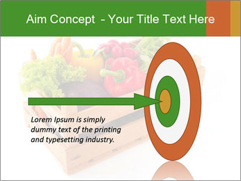 Wooden crate with a diversity of fresh vegetables PowerPoint Template - Slide 83