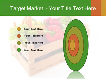 Wooden crate with a diversity of fresh vegetables PowerPoint Template - Slide 84