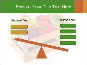 Wooden crate with a diversity of fresh vegetables PowerPoint Template - Slide 89