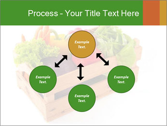 Wooden crate with a diversity of fresh vegetables PowerPoint Template - Slide 91