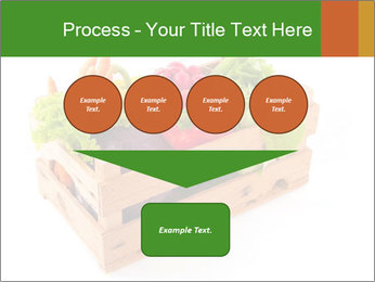 Wooden crate with a diversity of fresh vegetables PowerPoint Template - Slide 93