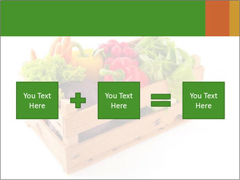Wooden crate with a diversity of fresh vegetables PowerPoint Template - Slide 95