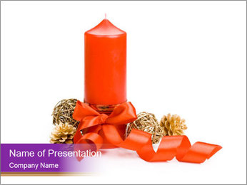 Candle PowerPoint Template - Slide 1