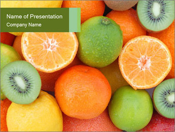 Tropical fruits PowerPoint Template